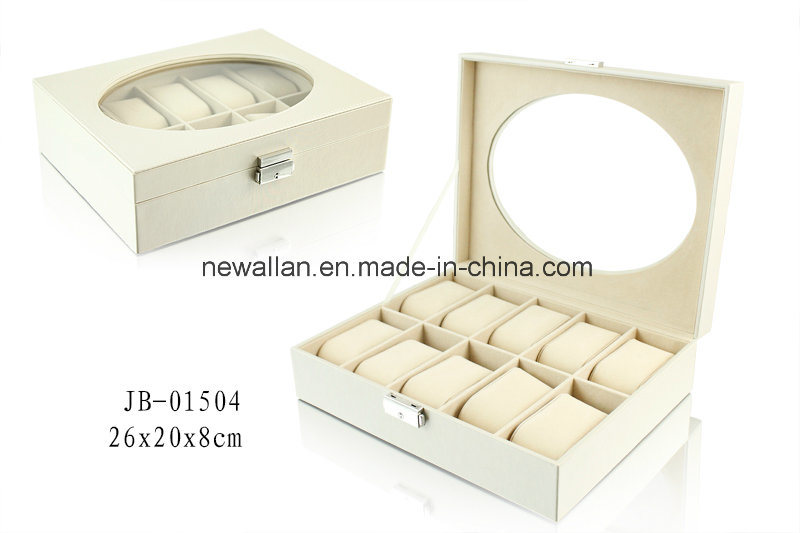 Elegant Packaging Gift Box PU Leather Watch Box Watch Case Wooden Box