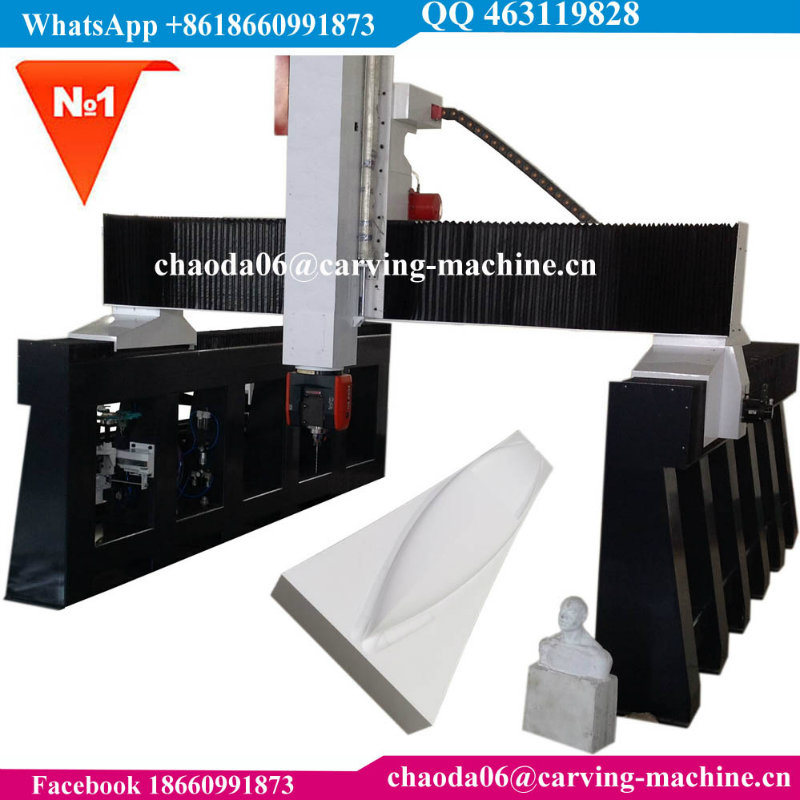 5 Axis CNC Machine 5 Axis CNC Router for 3D Big Large EPS Foam Styrofoam Polystyrene Polyurethane Wood Stone Marble Grantie Sculpture Car Ship Boat Yacht Mould