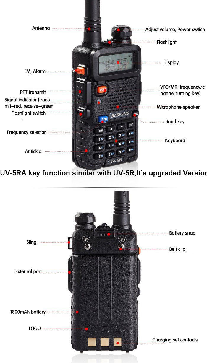Hot VHF/UHF Professional Interphone Two Way Radio Handle Transceiver