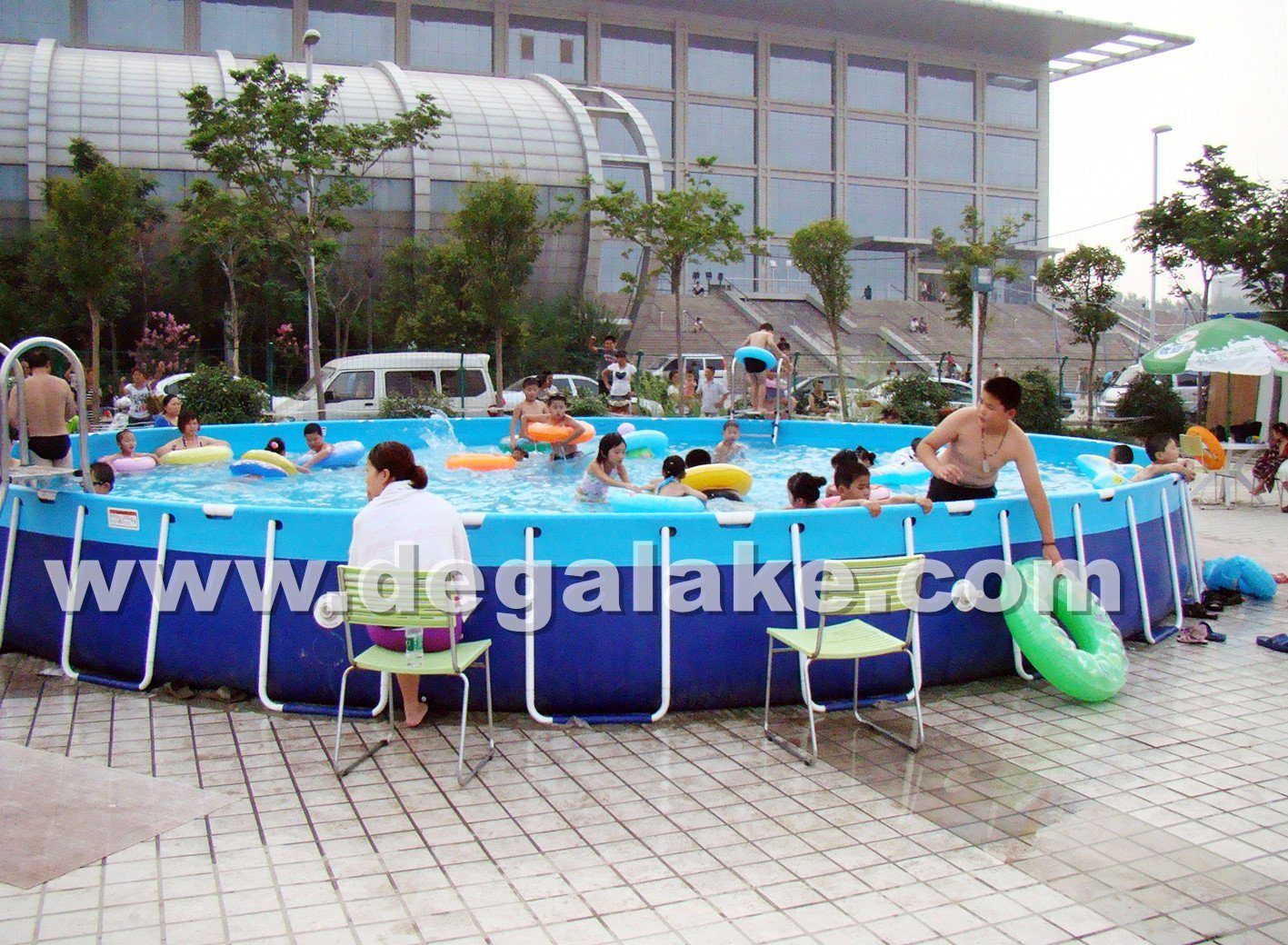 Steel Frame Inflatable Round Swimming Pool for Water Park