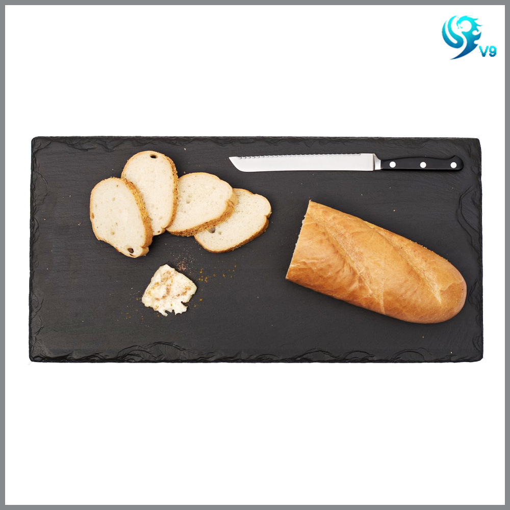 Square Shape Natural Eco Black Slate Cheese Board