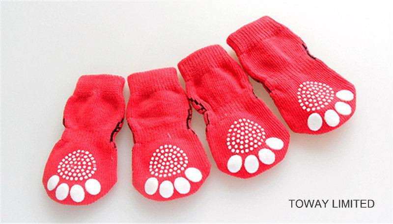Customize Dog Products Spiderman Knitting Anti-Slip Pet Socks