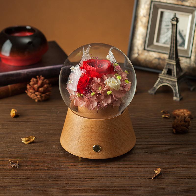 Bluetooth Speaker Flower Music Box for Gift