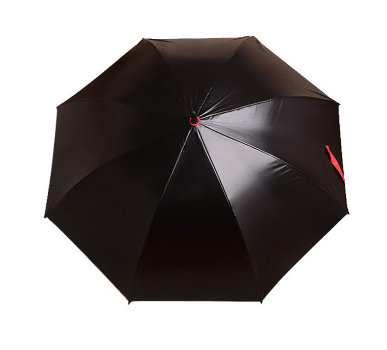 Black Rubber Straight Umbrella