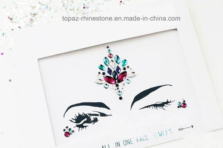 2017 New Eyebrow Rhinestone Sticker Head Crystal Rhinestone Sticker Eyeliner Tattoo Acrylic Sticker (S053)