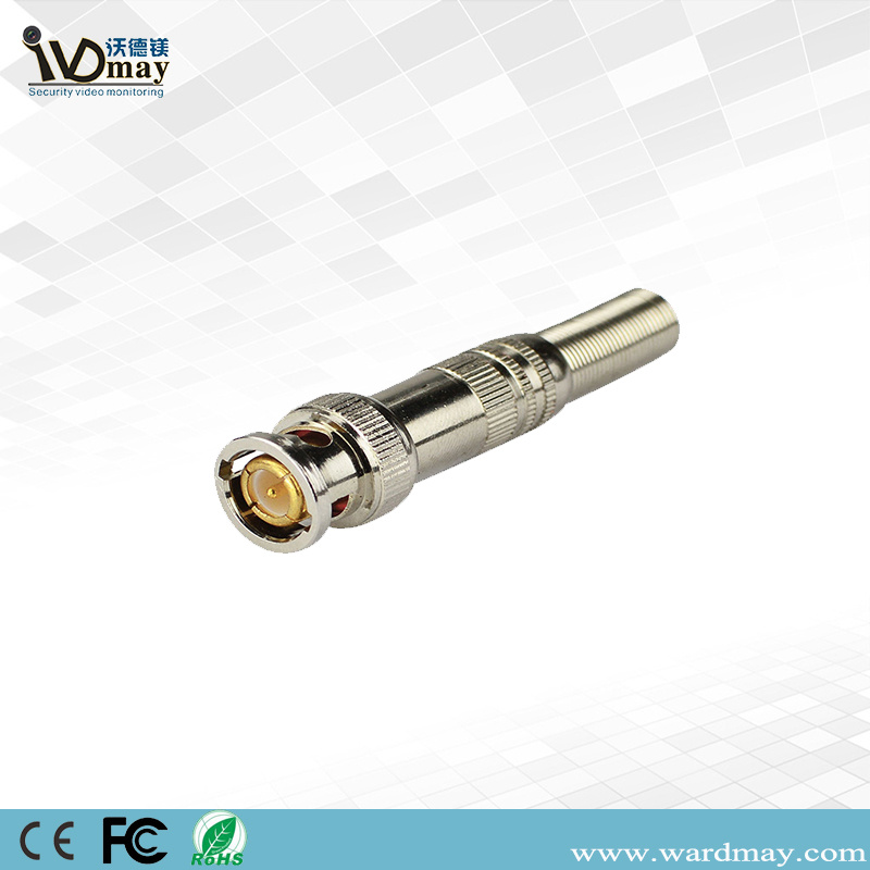 Full Copper Screw CCTV Video Accessories BNC Male Connector