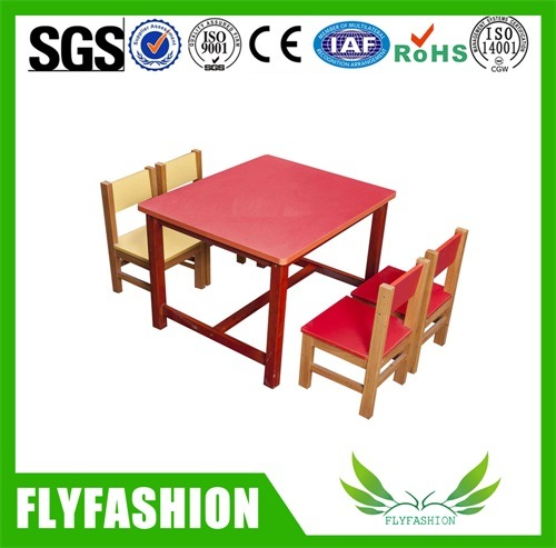 Kids Furniture Green Wood Children Round Table