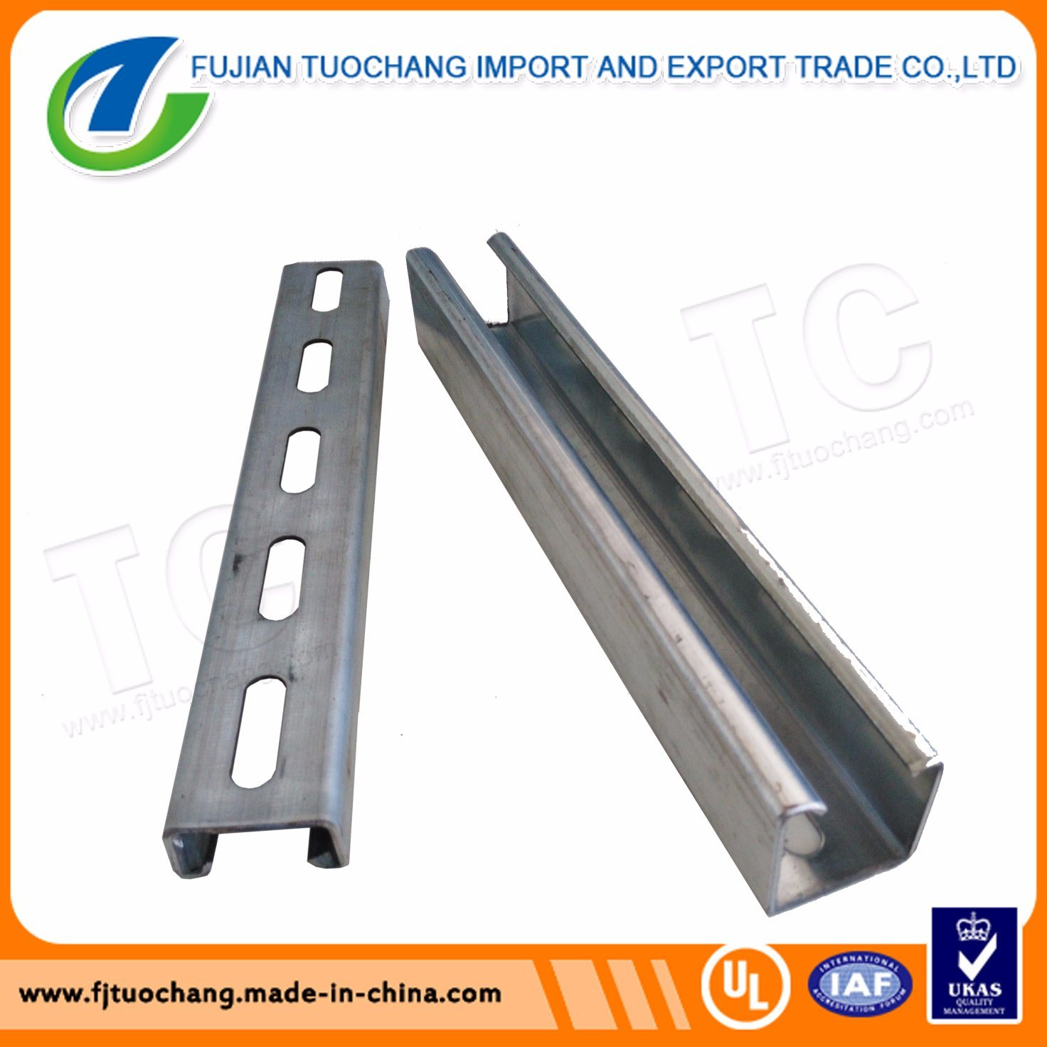 Hot Dipped Galvanized Slotted Channel Steel Strut Channel