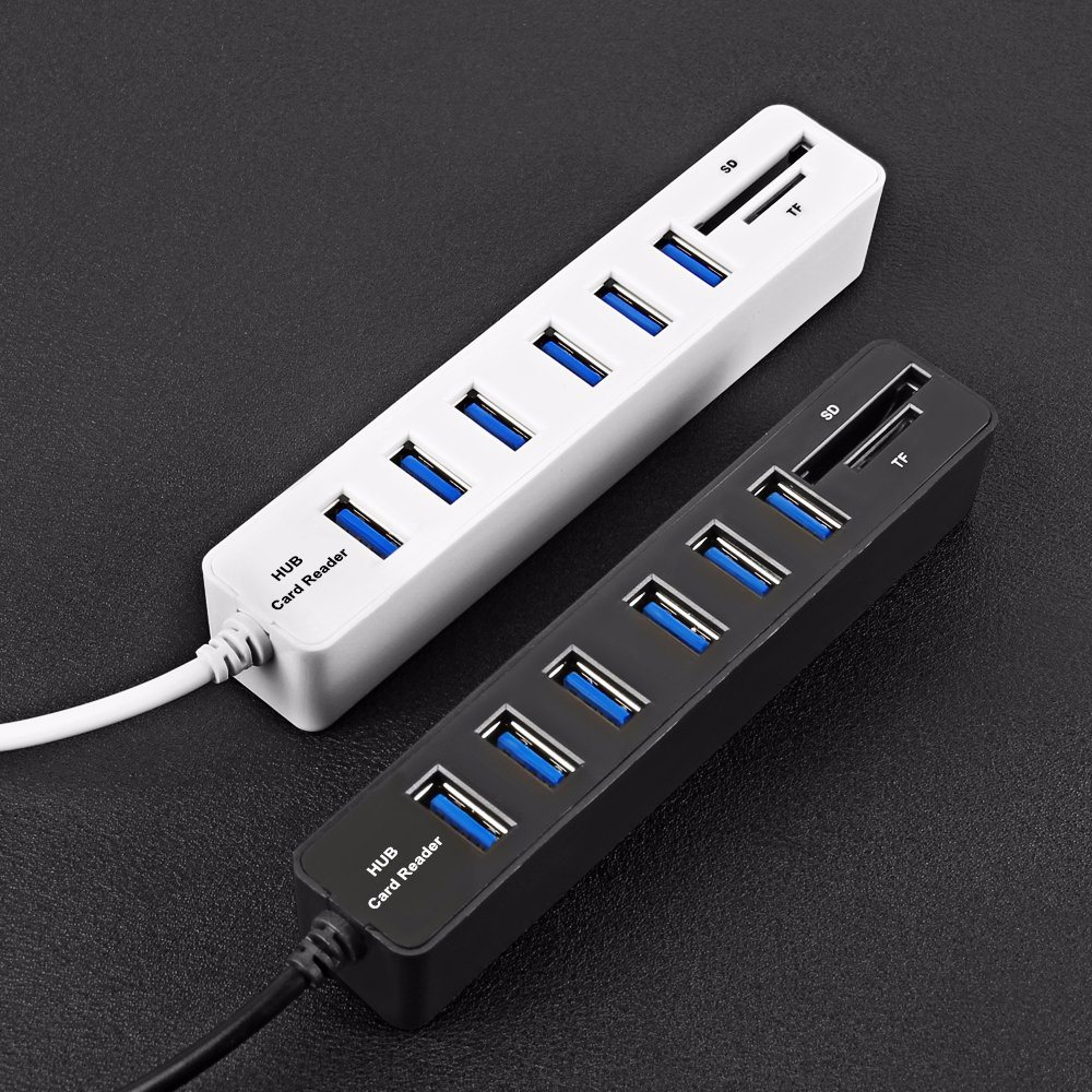 USB 2.0 Hub High Speed SD/TF Card Reader