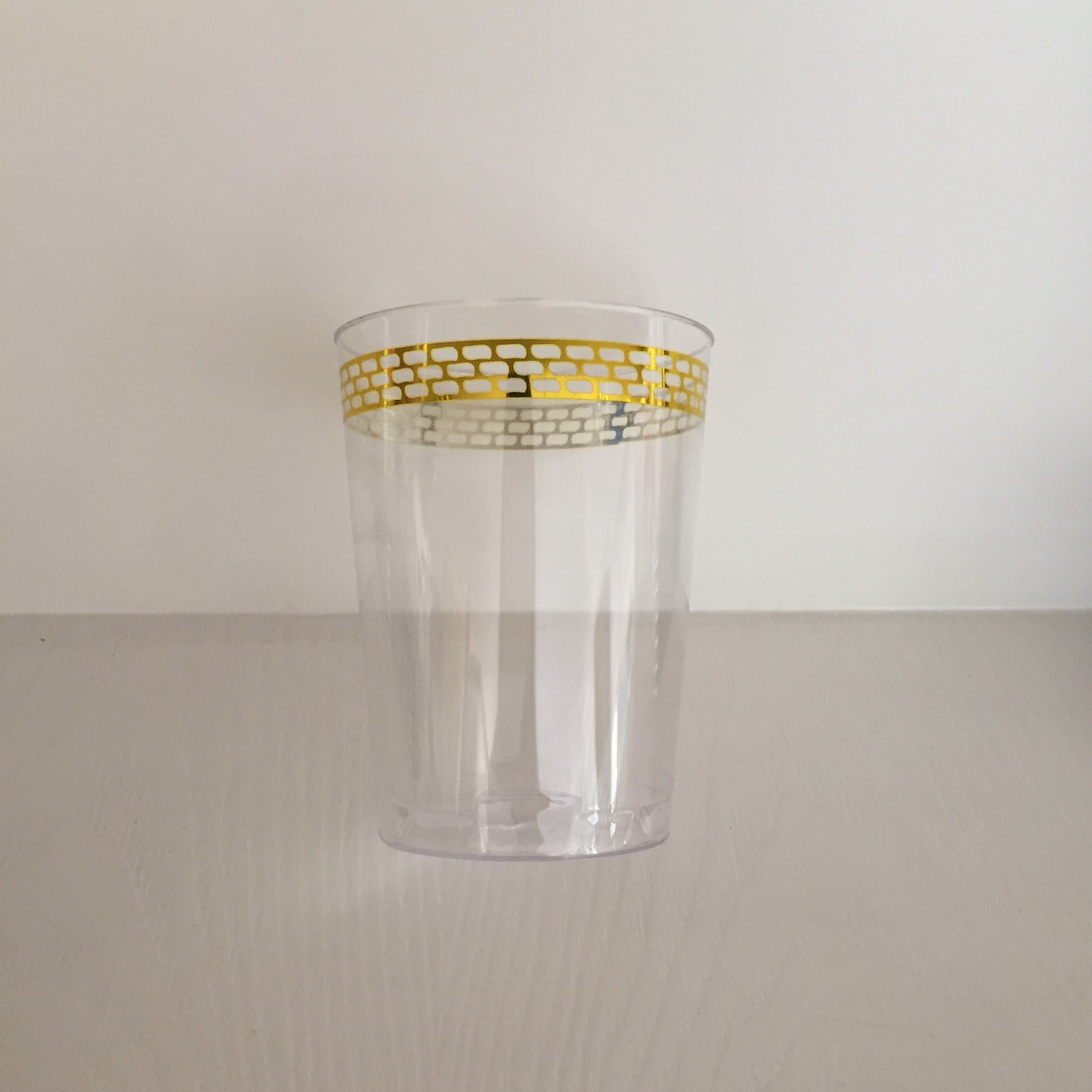 Plastic Cup, Glass, Mug, Tableware, PS, GB-01, Disposable, Hot, Cup, Printing, Gold