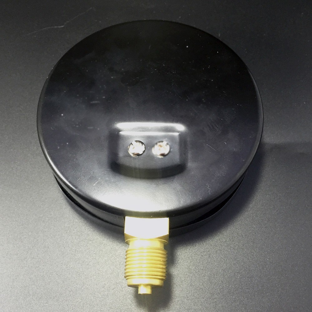 046 100mm Black Steel Bottom Manometer