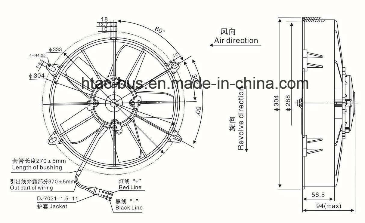 China Professional Supplier Auto Air Conditioner Condenser Fan
