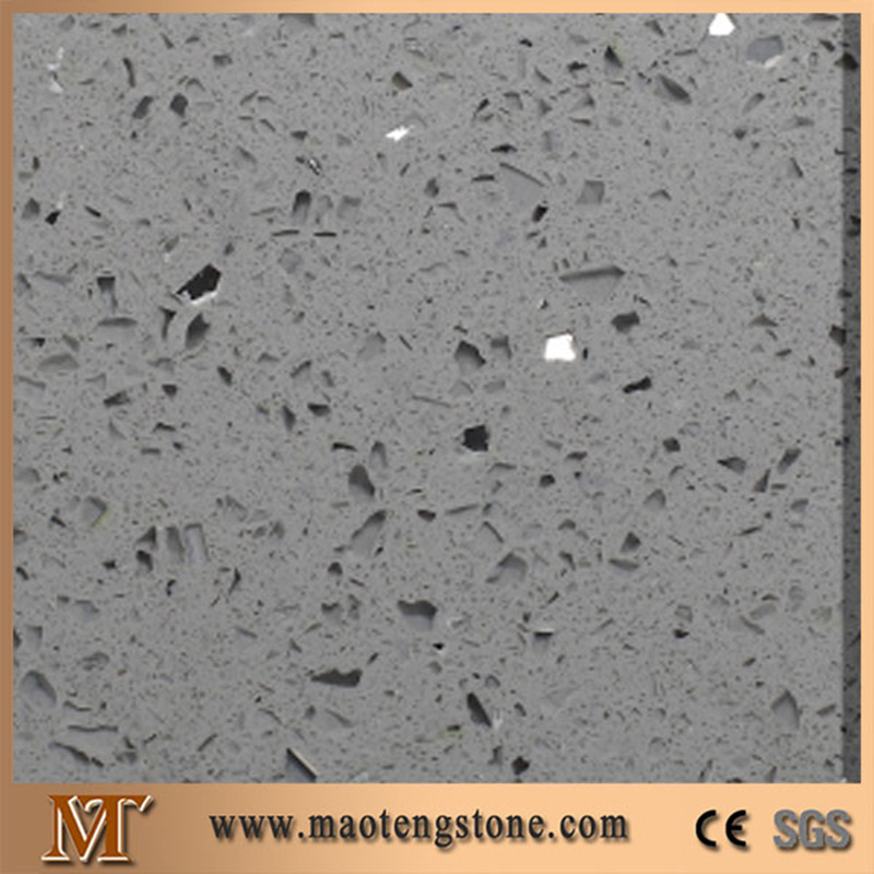 Artificial Stone Glass Series Silver Star Blue Artificial Marble Slab