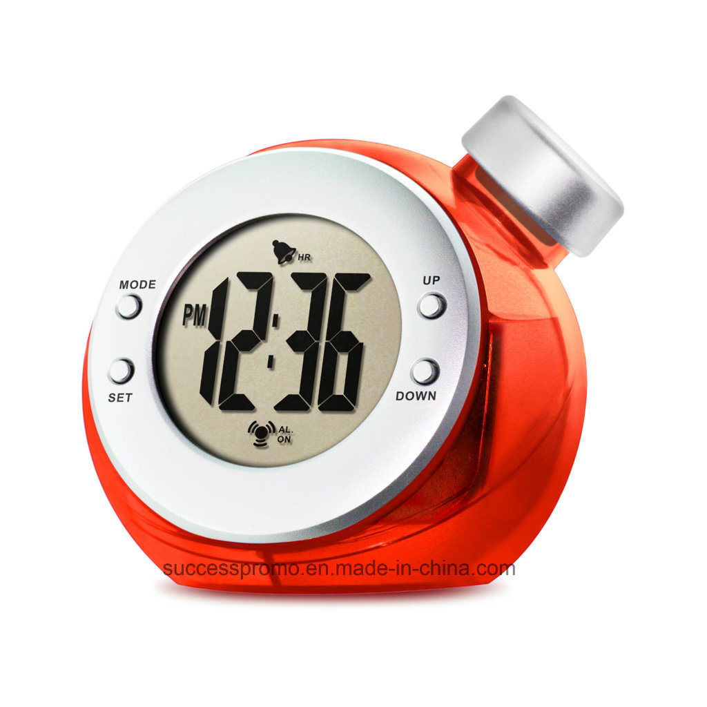 Water Powered Alarm Clock, Desk Clock, Table Clock