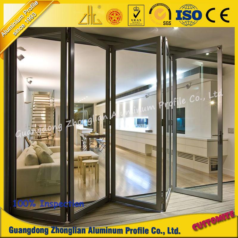 Aluminum Mamufacturer Aluminium Door with Anodized or Wood Grain