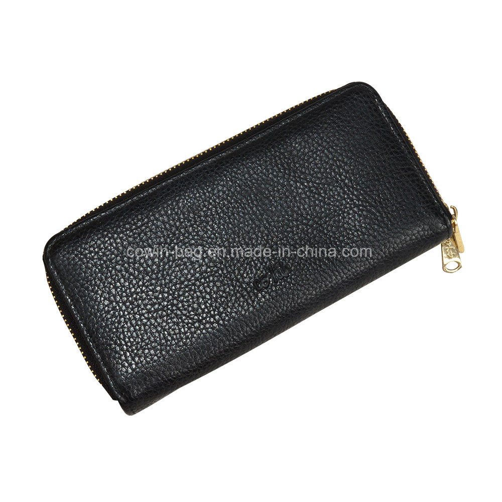PU Leather Made Bio-Zip Men′s Wallet/Clutch/ Purse