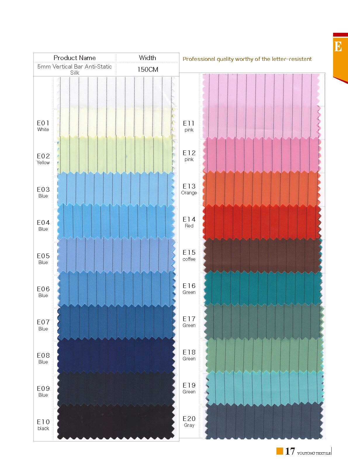 in Stock Antistatic Silk Fabric for safety Wear