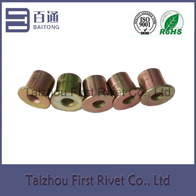 9.4X10mm Zinc Plated Flat Head Full Tubular Clutch Rivet