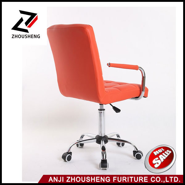 Comfortable Back Support Vinyl Office Chair Lattice Cheap Leather Office Chairs