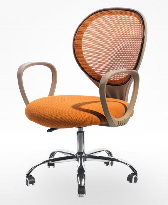 Aluminum Base Adjustable Arms Fabric Mesh Executive Office Chair (HX-NCD482)