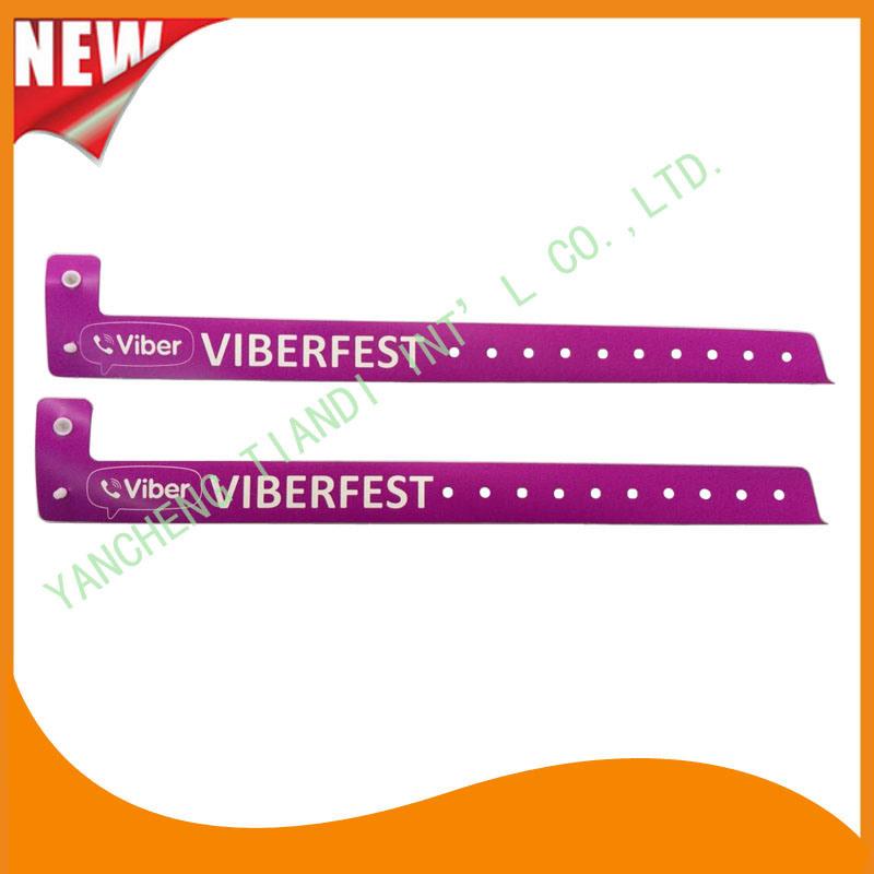 Entertainment Plastic Full Color Printing ID Wristbands Bracelet (E8070-20-5)