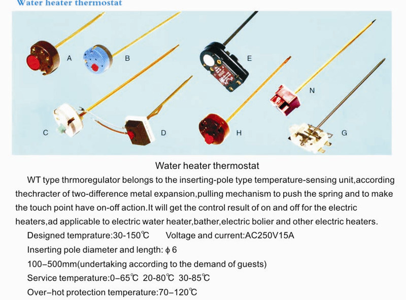 Electric Water Heater Thermostat Heating Element