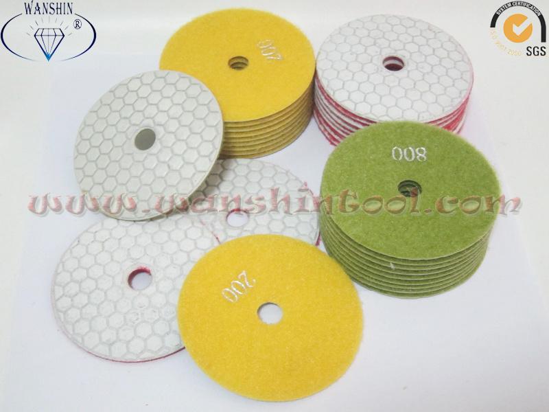 White Dry Polishing Pad Diamond Tool Polishing Tool