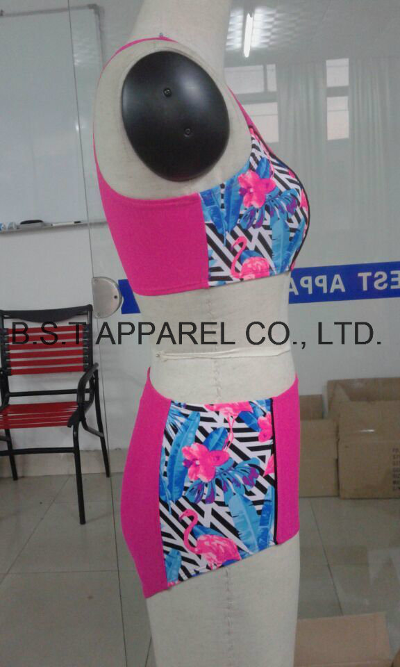 Sexy Zipper Puller Two-Piece Bikini (QG-5030M)