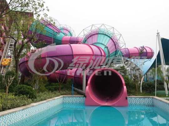 Storm Valley Water Slide, Attractive Water Park Equipment