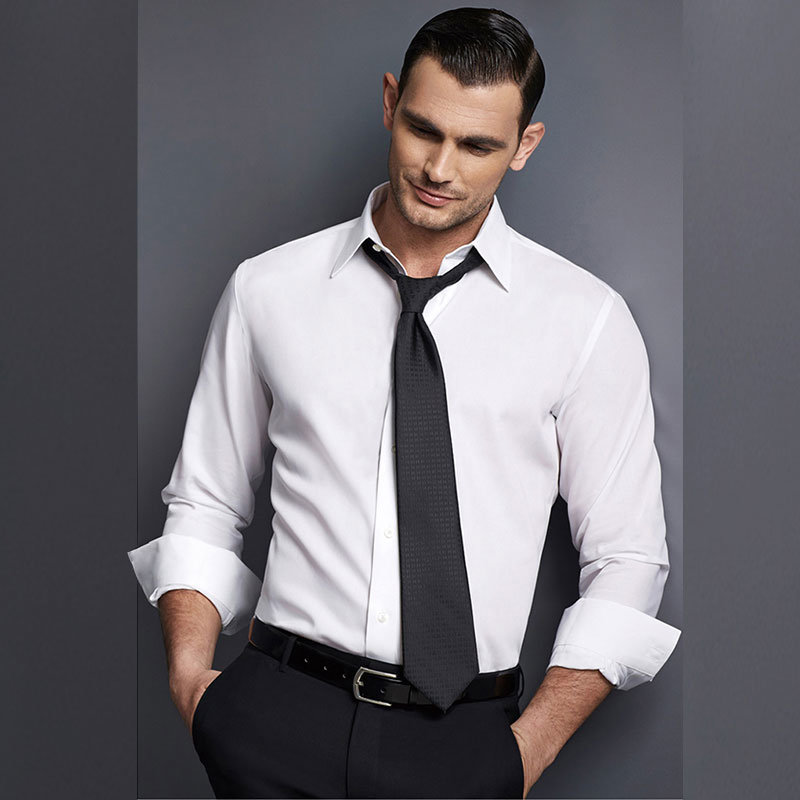 Latest Design White Cotton Man Dress Shirt