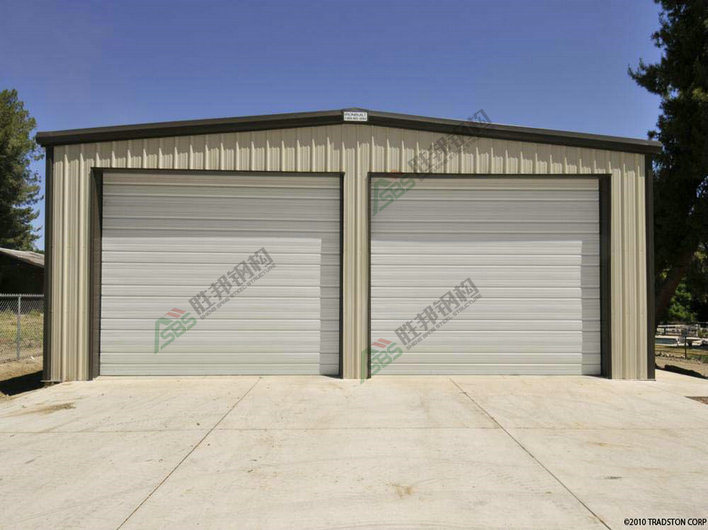 China pre engineered steel structure frame garages photos for Pre engineered garage