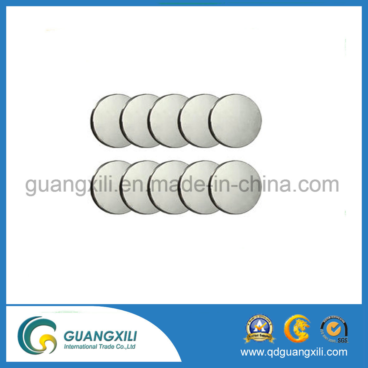 N52 Rare Earth Strong Grade Round Disc Shape Magnet