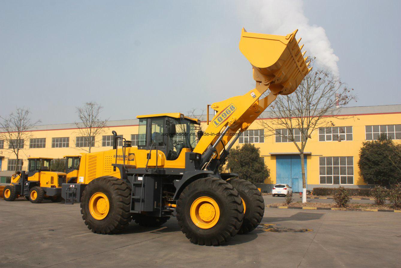 6 Tons Rock Bucket Wheel Loader (LQ968) Heavy Machinery