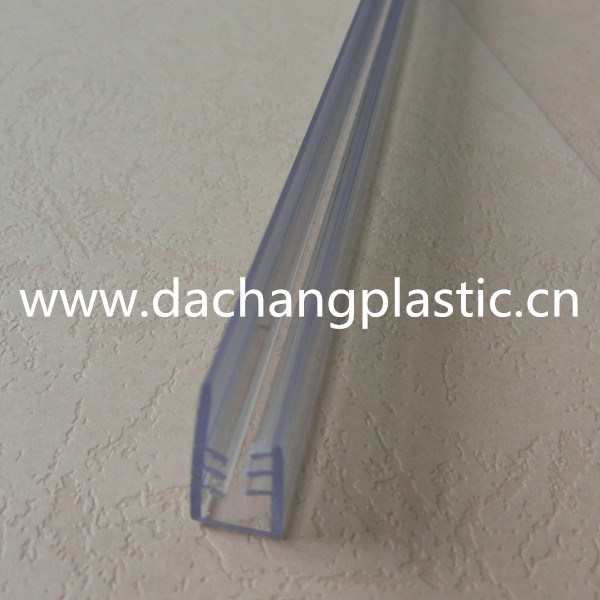 Clear PVC Plastic Gripper/Clip Profile