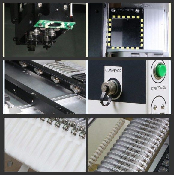 Desktop SMT Pick and Place Machine for BGA 0201with Vision Neoden 4