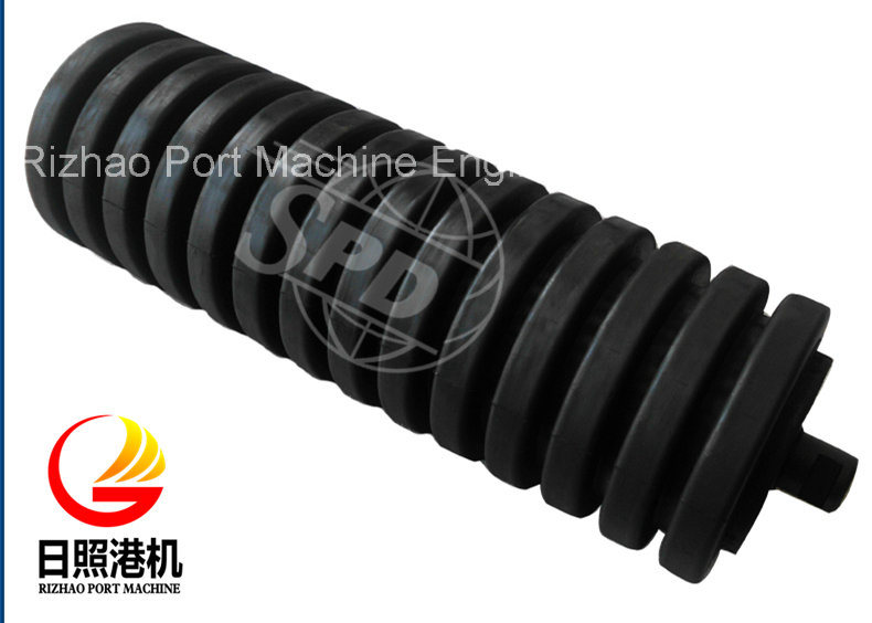 SPD Whole Rubber Coated Conveyor Impact Roller