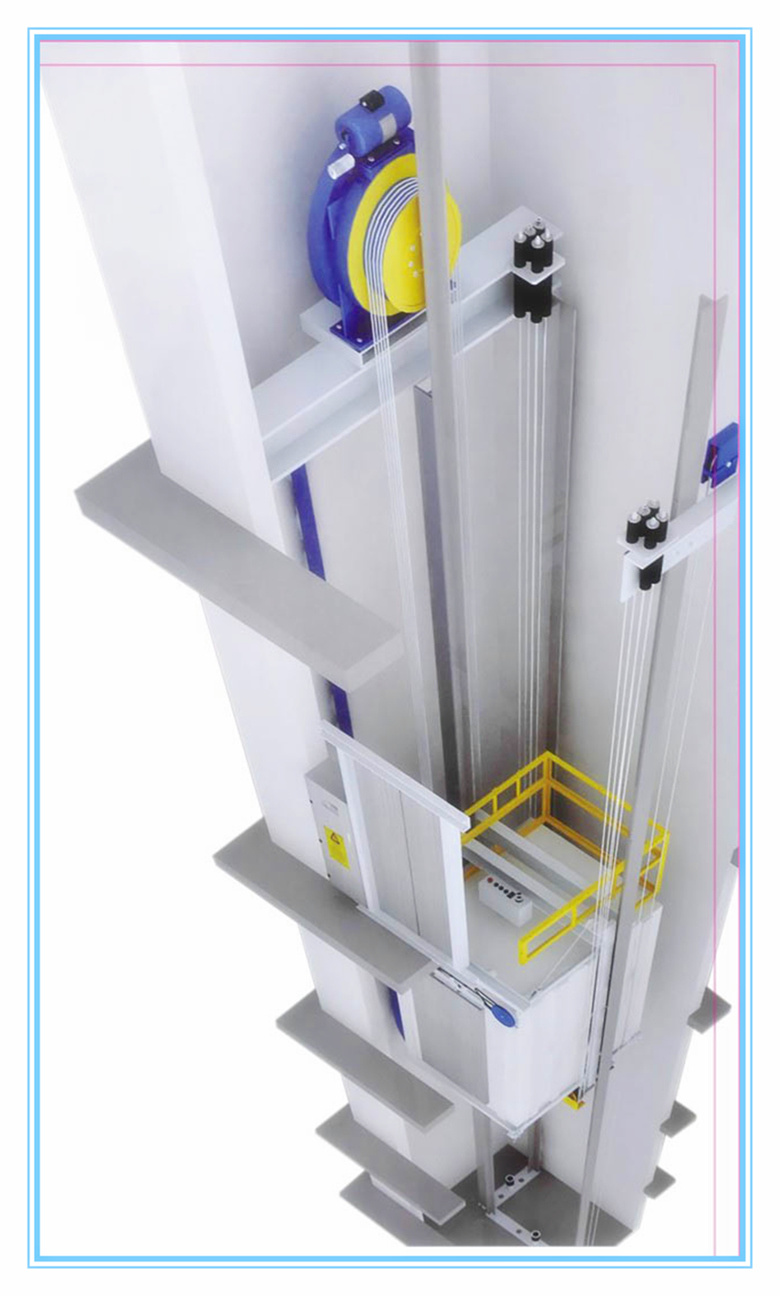 Low Cost Passenger Lift for Small Homes Without Machine Room