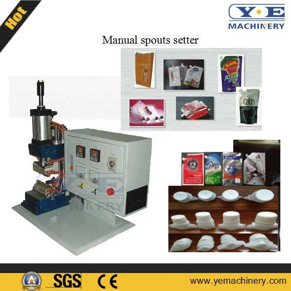 China Manual Spouts Sealing Machine for Flexible Pouch
