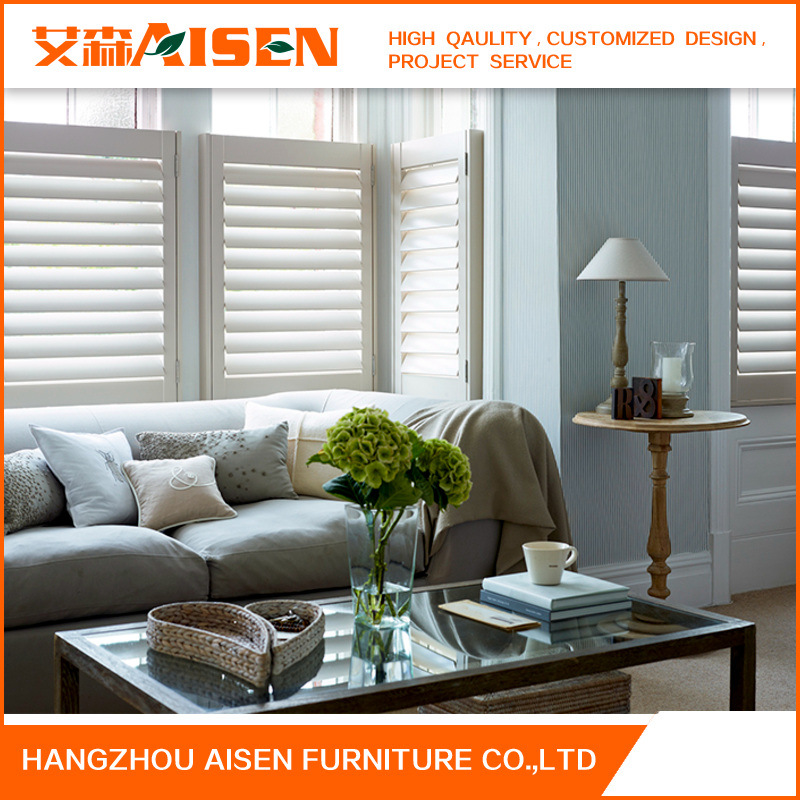 2017 Factory Direct Basswood Wood Plantation Shutter for Bathroom
