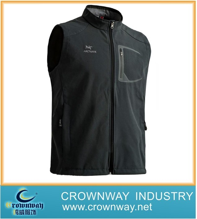 Fleece Sport Outdoor Softshell Vest for Men (CW-SOFTS-20)