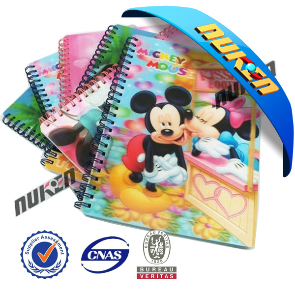 2015 New Design 3D Notebook Cover