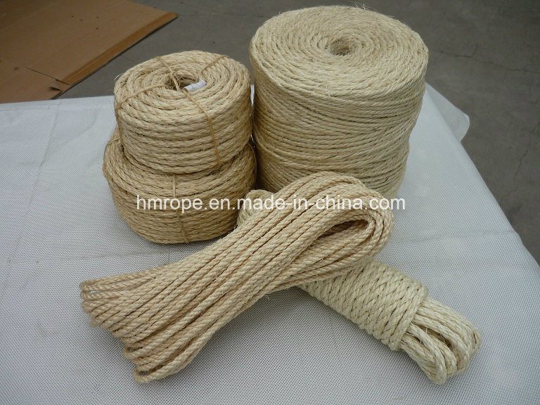 Sisal Twisted Rope, Sisal 3 Strands Twisted Twine