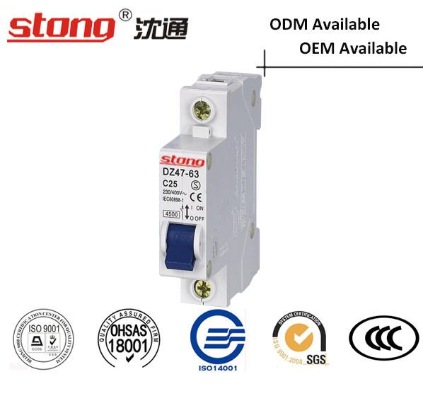 High Quality C45 Vacuum Mini Circuit Breaker 2p