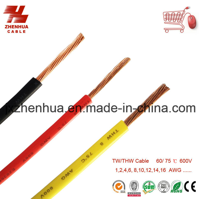 14agw 16AWG 18AWG Thw Wire Cable 75c 600V
