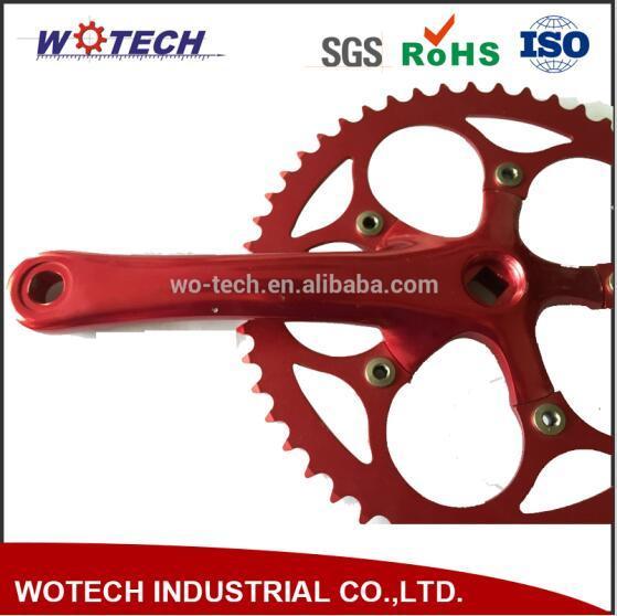 Best Seller Colorful Bike Parts Custom Single Chainwheel with Crank