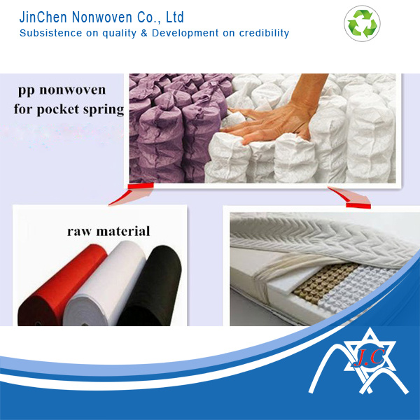 PP Spunbond Nonwoven for Spring Pocket, Mattress Cover, Protector