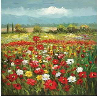 Oil Painting (Garden Landscape Oil Painting)