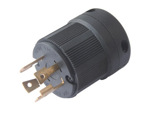 American 30A NEMA L14-30p Anti-off Industry Power Lock Plug (041143001)