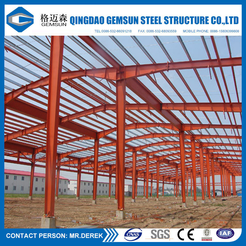 Low Cost Prefabricated Steel Structure Warehouse (CE)