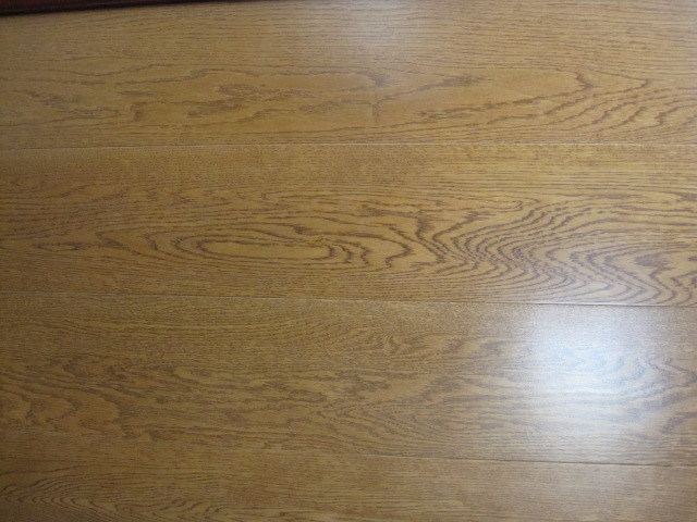 China oak stained teak color wood flooring